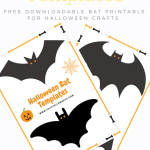 Free printable Halloween Bat Templates