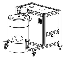 Aspiration unit with box and inverter for laboratory