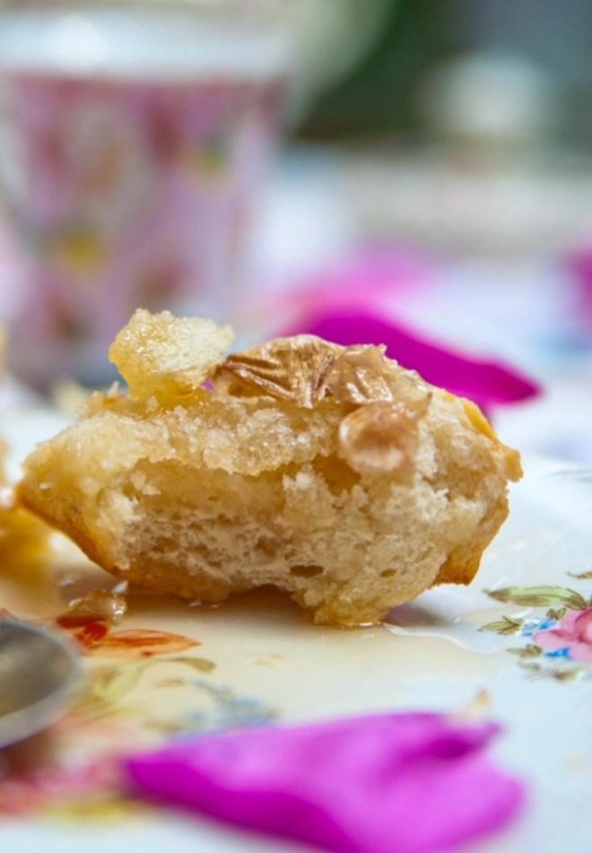 Rose bread sweet breakfast