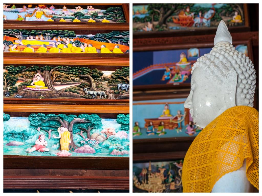 Teak temple Thailand buddha story