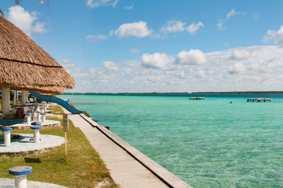 Bacalar swimming