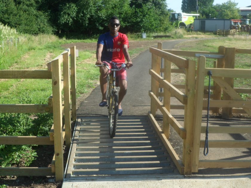 Ongie Cycleway Cattle Grids feature anti slip coated bars