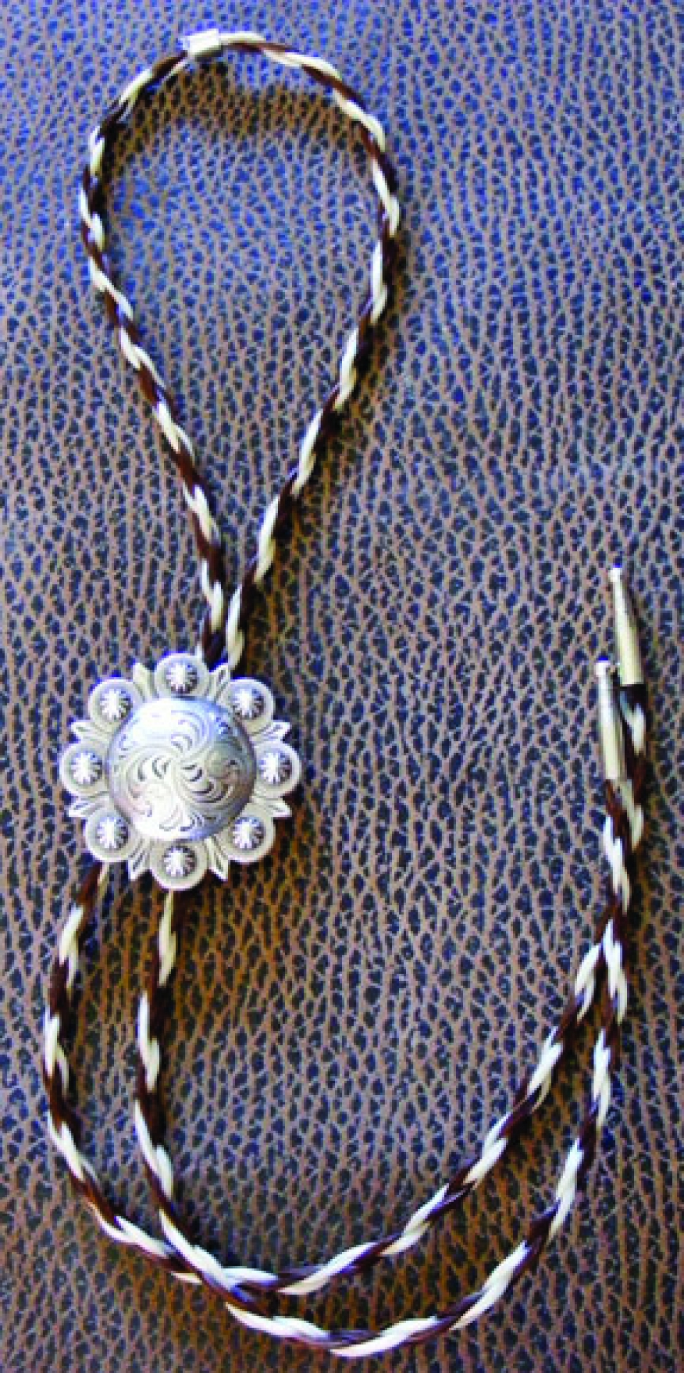 Concho Horsehair Bolo Tie Cattle Kate