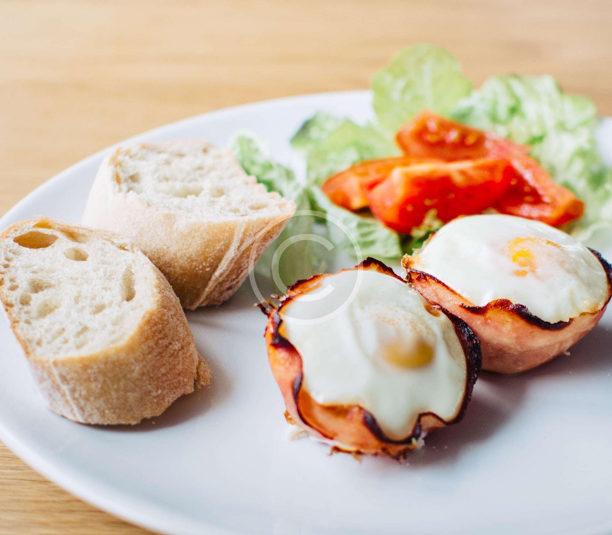 Fried Bacon & Eggs