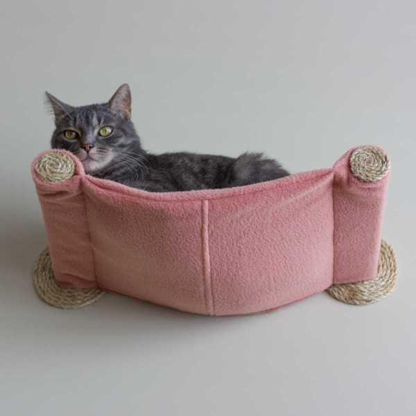 Cat Hammock - Wall Mounted Bed Salmon