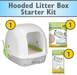 Purina Tidy Cats Breeze Hooded System Starter Kit Cat Litter Box
