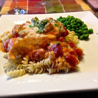 Chicken Mozzarella with Rotini