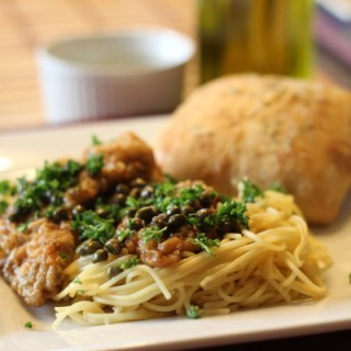 Chicken Piccata with Rosemary Ciabatta