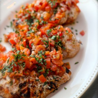 Simple Grilled Chicken Bruschetta