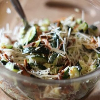 Roasted Zucchini with Almonds and Parmesan