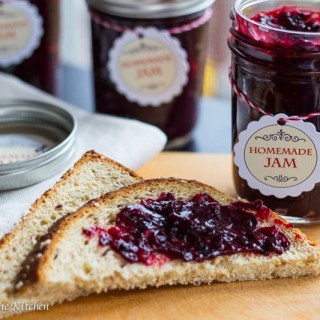 Homemade Marionberry Freezer Jam