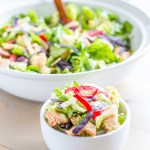Craving some fresh, crispy Panera Bread BBQ Chicken Salad goodness without leaving your four walls? This recipe delivers - Voila!