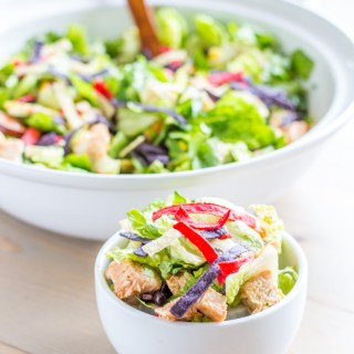 {Copycat} Panera Bread BBQ Chicken Salad