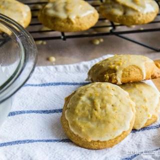 Glazed Pumpkin Orange Cookies