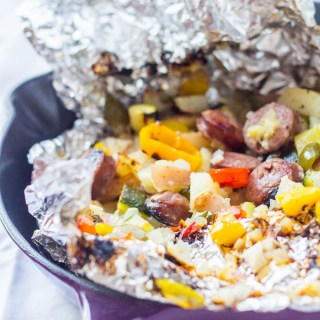 Grilled Chicken Sausage Foil Packets