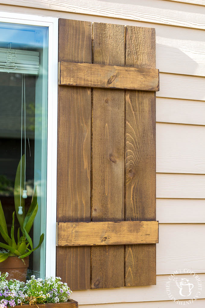 Looking to dress up a plain exterior window? It doesn't get any cheaper, easier, or more flexible than this plan for a DIY Window Box and Shutters!