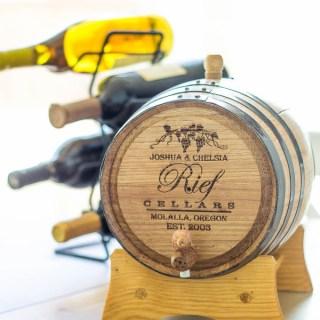 Catz Review: Uncommon Goods' Personalized Wine Barrel Anniversary Gift