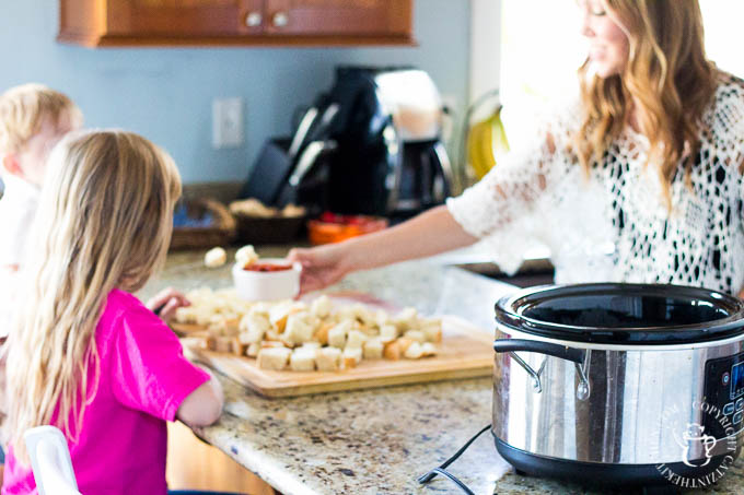 Easy, fun, flexible, and ridiculously kid-friendly, slow-cooker Pizza Fondue is a recipe your little ones will beg for on a regular basis!