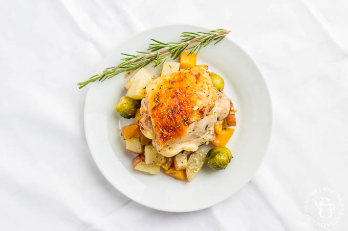 If you're looking for a one pan chicken dinner that tastes delicious, is easy, and celebrates autumn's produce, this is it. Your busy night will be a cinch!