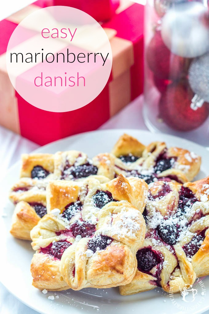 Delightful Oregon marionberries, flaky puff pastry, indulgent cream cheese filling, & so simple! You can & MUST make yourself an easy marionberry Danish!