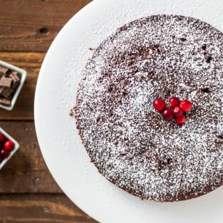 Chocolate Cranberry Spice Cake