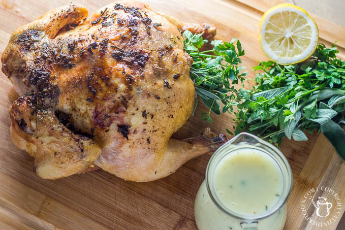 If you're looking for a simple, elegant meal for Valentine's Day, or any holiday, make this roasted chicken with fresh herbs recipe. It doesn't disappoint!
