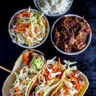 Slow-Cooker Korean BBQ Beef Tacos