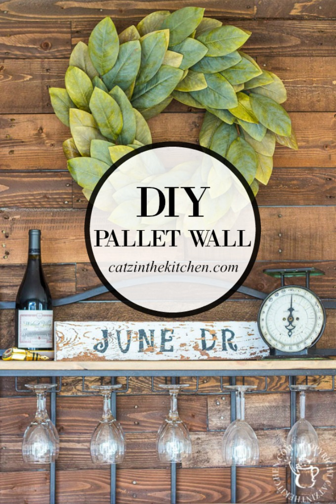A DIY Pallet Wall is an inexpensive, homey way to add a big dose of character to almost any room! Here are some things we learned doing ours!