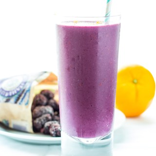 What's creamy, tasty, and healthy, made with nonfat frozen yogurt and delicious Oregon blackberries? This Orange & Ginger Blackberry Smoothie!