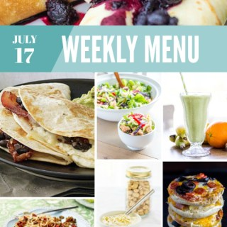 Weekly Menu for the Week of July 17th