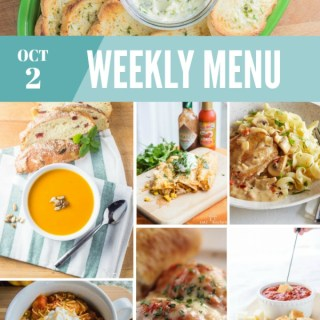 Weekly Menu For the Week of Oct 2nd