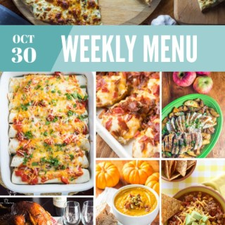 Weekly Menu for the Week of Oct 30th