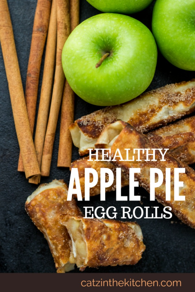Craving the crunchiness of pie crust and the gooey sweetness of apple pie filling? Try these healthy apple pie egg rolls and skip the guilt!
