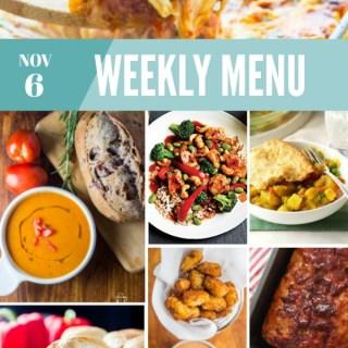 Weekly Menu for the Week of Nov 6th