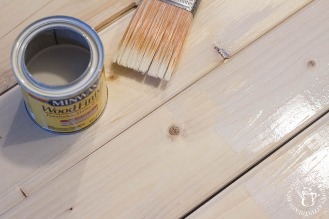 DIY wood ceiling stain