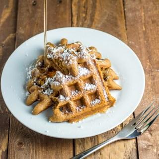 Easy Gingerbread Waffles