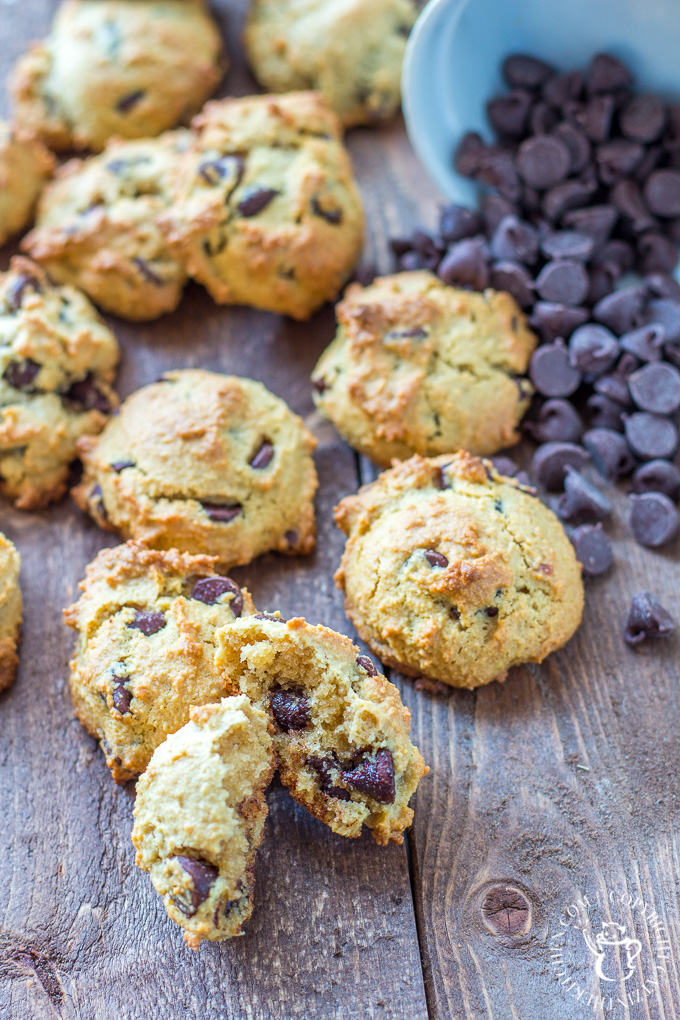 "Whether you're actually on a paleo diet or not, these paleo chocolate chip cookies should make their way onto your dessert menu! They're just as tasty as the original, but with natural sugars and ""healthy"" fats, you can feel just a bit better about eating them..."