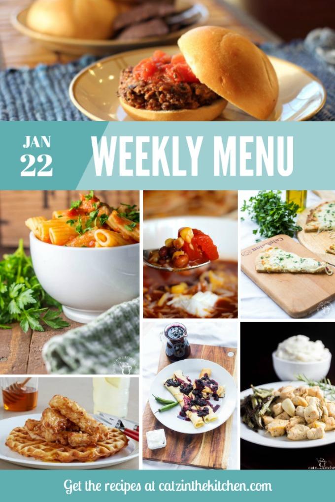 Weekly Menu   Catz in the Kitchen   catzinthekitchen.com   #mealplan