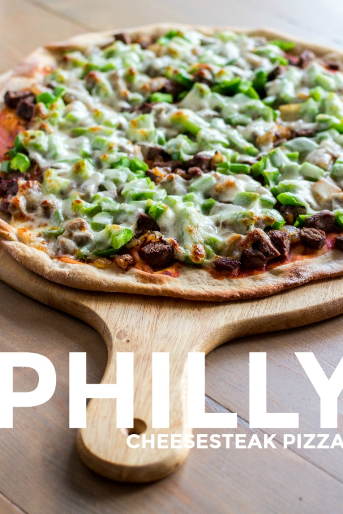 Love the classic combo of steak, cheese, and fried onions? Turn that sandwich craving into pie form with this easy and quick Philly Cheesesteak Pizza!