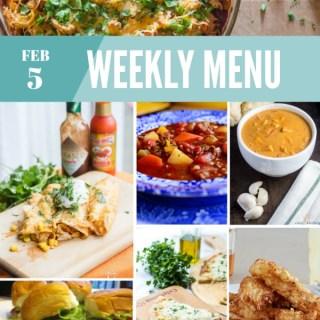 Weekly Menu for the Week of Feb 5th