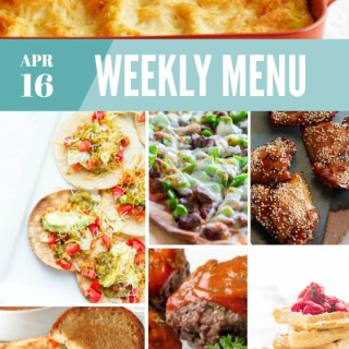 Weekly Menu for the Week of April 16th