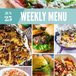 Weekly Menu for the Week of June 25th