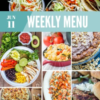 Weekly Menu for the Week of June 11th