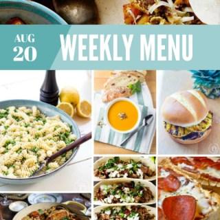 Weekly Menu For the Week of Aug 20