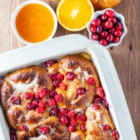 Cranberry Orange Croissant French Toast