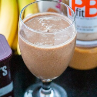 Craving a chocolate shake, but want to avoid the calories? We've got you covered with this healthy chocolate peanut butter shake. Try adding protein, too!