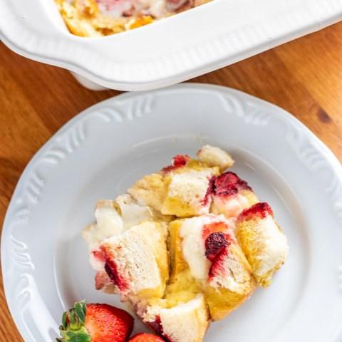Strawberries & Cream Overnight French Toast
