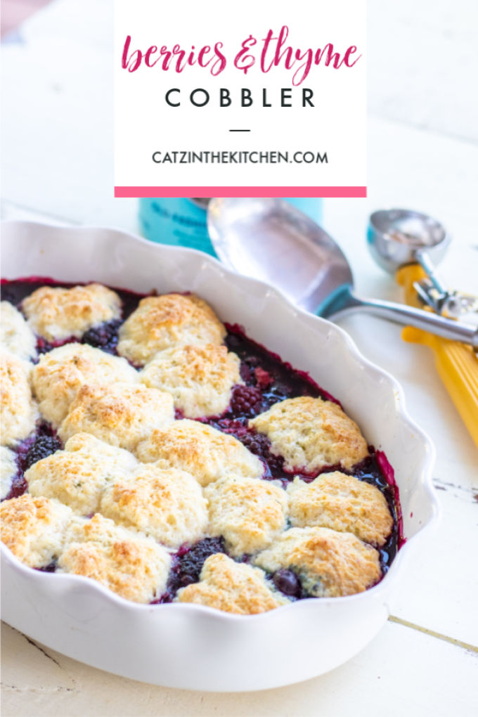 Summer is here, & cobbler goes hand in hand with summer memories! Try this berries & thyme cobbler recipe for a slightly earthier take on the classic!
