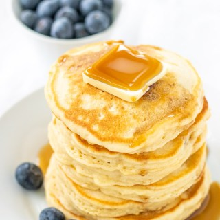 Gracie whips up these pancakes nearly every Friday morning - they're easy, quick, fluffy, and delectable. They're Friday Morning Pancakes!
