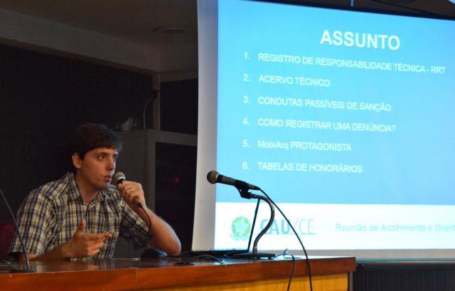 Analista arquiteto do CAU/CE ministra conteúdos técnicos